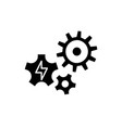 power supply black icon sign on isolated vector image vector image