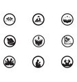 reading book logo and symbols silhouette black vector image