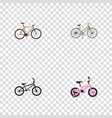 realistic extreme biking timbered childlike and vector image vector image