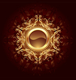 round jewelry banner vector image