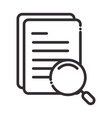 search icon paper with text content magnifier vector image vector image