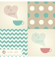 Set of card for valentine dayl vector image vector image