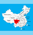 sichuan province map china map vector image vector image