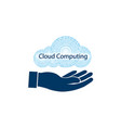 sign computer cloud vector image vector image