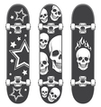 Skateboard print vector image vector image