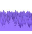 spruce forest landscape vector image vector image