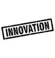 square grunge black innovation stamp vector image vector image