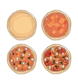 Stages of cooking pizza sketch for your design vector image vector image