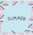 summer holiday vacation flat design vector image vector image