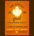 the spooky glowing ghost abstract vintage vector image