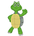 Turtle with thumb up vector image vector image