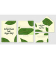wedding personal menu envelope label save the vector image