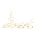 white christmas tree background with bubbles vector image vector image
