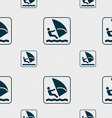 Windsurfing sign Seamless pattern with geometric vector image vector image