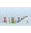 winter activities concept vector image vector image