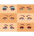 Women Eyes Set vector image