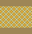yellow check diagonal fabric texture background vector image vector image