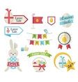 Easter Sale icon set vector image