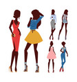 fashion models woman silhouette sketch attractive vector image