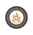 Vintage Motorcycle Club Logo on white background vector image