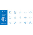 15 weather icons vector image vector image