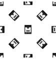 3d printer pattern seamless black vector image vector image