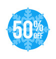 50 off sticker winter sale vector image