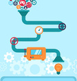 abstract infographics in flat style vector image vector image