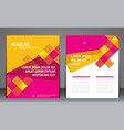 abstract modern geometric flyer brochure template vector image vector image