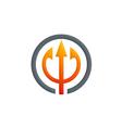 abstract three arrow hub logo vector image vector image