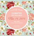 autumn vintage hortensia flowers floral card vector image vector image