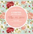 autumn vintage hortensia flowers floral card