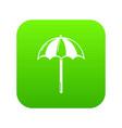 beach umbrella icon green vector image vector image