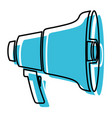 blue watercolor silhouette of megaphone icon vector image