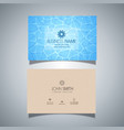 business card with swimming pool water texture vector image vector image