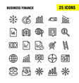 business finance line icon pack for designers and vector image vector image