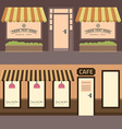 cafe building set elements for construction of vector image