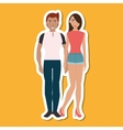 cartoon couple design people and relationships vector image vector image