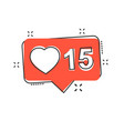 cartoon like comment follower icon in comic style vector image