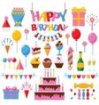 Celebration happy birthday party symbols carnival vector image vector image