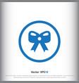 Christmas bow icon sign icon bow