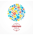 Christmas sale card with buttons ball vector image