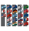 collection flags design vector image
