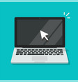 computer screen with pointer mouse arrow icon vector image vector image
