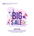 concept big sale modern conceptual for banner vector image vector image