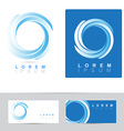 Corporate business logo circle vector image
