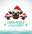 cow merry christmas vector image vector image