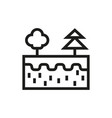 cut earth icon on white background vector image
