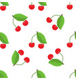 cute cherry seamless pattern with flat and solid vector image vector image