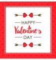 Cute Valentines Day card template vector image